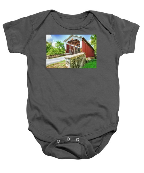 Lancaster Covered Bridge Baby Onesie