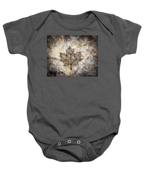 Leaf Imprint Baby Onesie