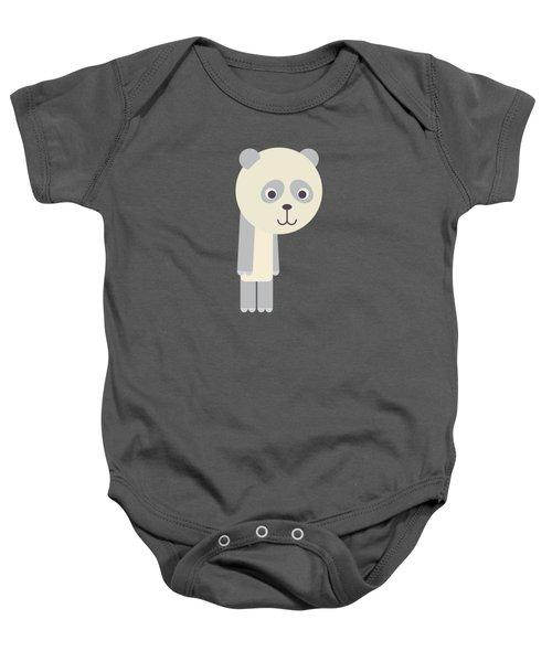 Letter P - Animal Alphabet - Panda Monogram Baby Onesie