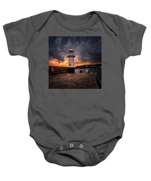 Lighthouse Dramatic Sky Baby Onesie