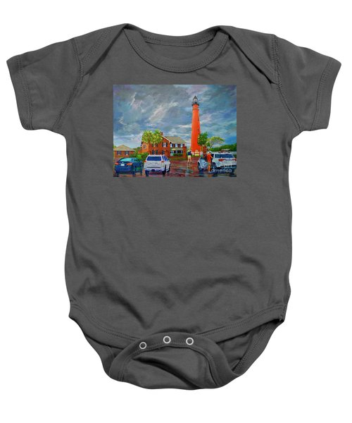 Lightning And The Light Baby Onesie