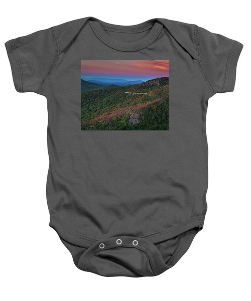 Linn Cove Pink And Blue Baby Onesie
