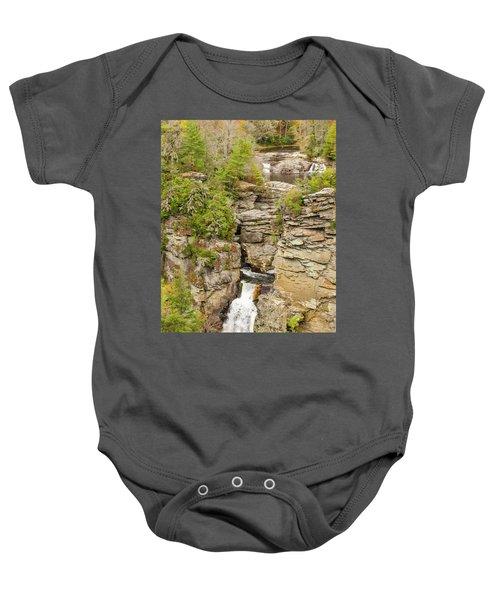 Linville Falls - Vertical Baby Onesie