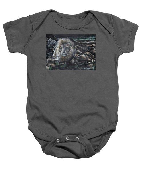 Lion In Dappled Shade Baby Onesie