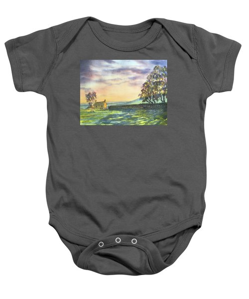 Long Shadows At Sunset Baby Onesie