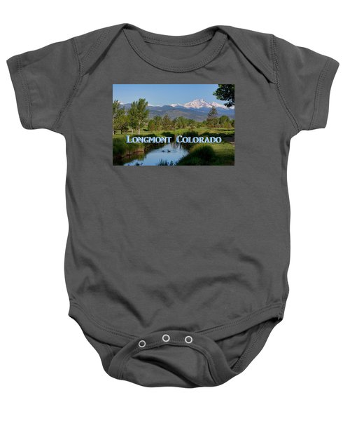 Baby Onesie featuring the photograph Longmont Colorado Twin Peaks View Poster by James BO Insogna