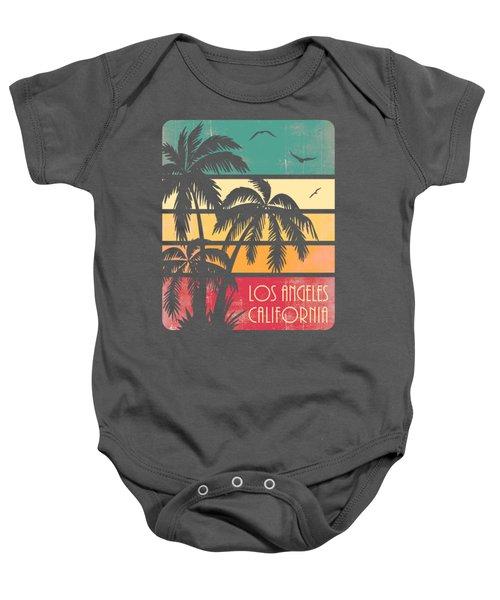 Los Angeles California Vintage Summer Sunset Baby Onesie