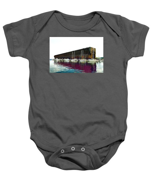Lower Harbor Ore Dock At Marquette Michigan. Baby Onesie