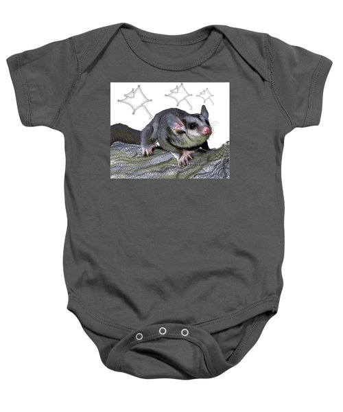 M Is For Mahogany Glider Baby Onesie