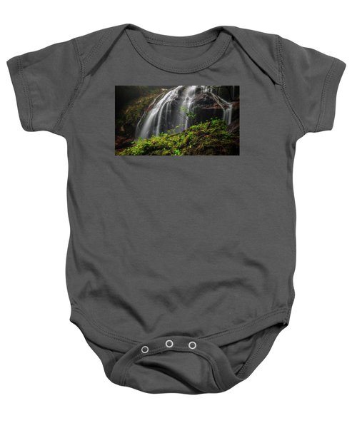 Magical Mystical Mossy Waterfall Baby Onesie