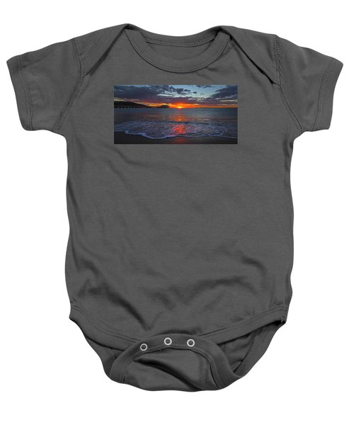 Malibu Pier Sunrise Baby Onesie