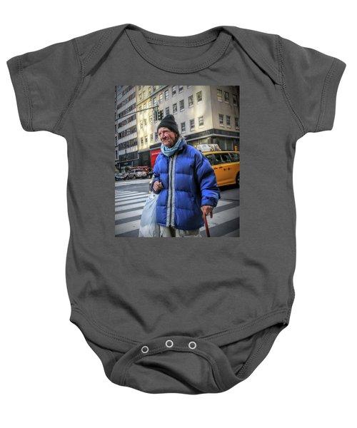 Man Vs. City Baby Onesie