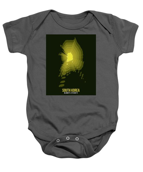 Map Of South Korea 2 Baby Onesie
