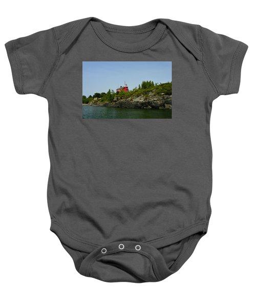 Marquette Michigan Lighthouse Baby Onesie