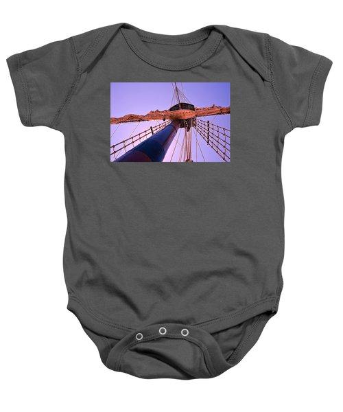 Mast And Sails Baby Onesie