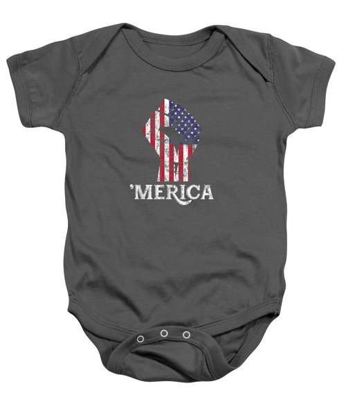 Merica American Flag Shirt- 4th July Independence Day Tshirt Baby Onesie