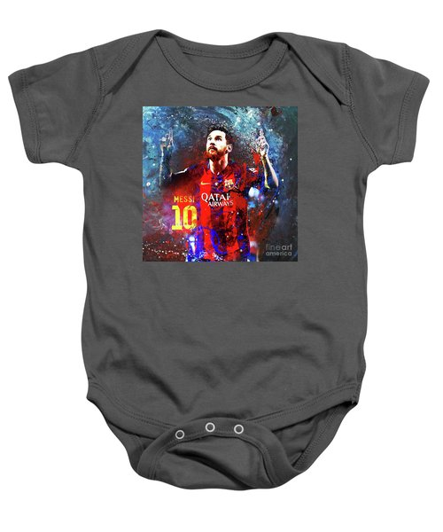 Messi Barcelona Player Baby Onesie