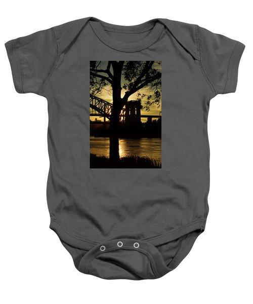 Mid Autumn Silhouette Baby Onesie