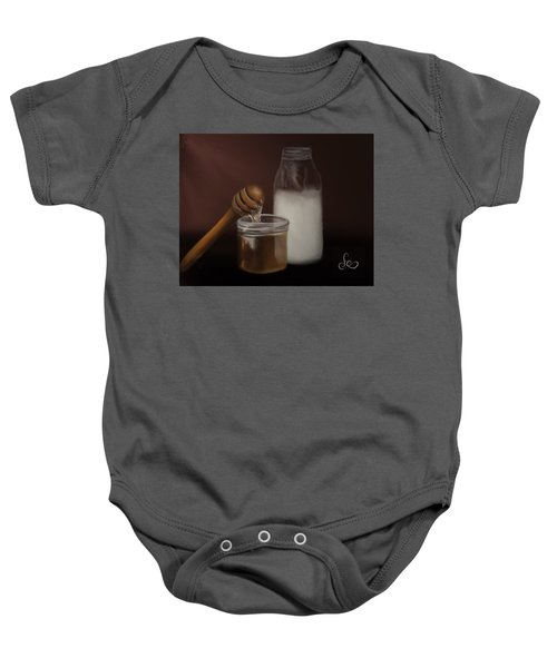 Baby Onesie featuring the painting Milk And Honey  by Fe Jones