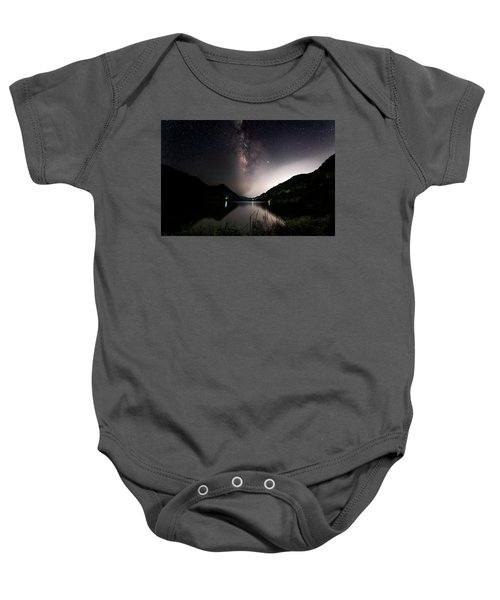 Milky Way Over The Ou River Near Longquan In China Baby Onesie