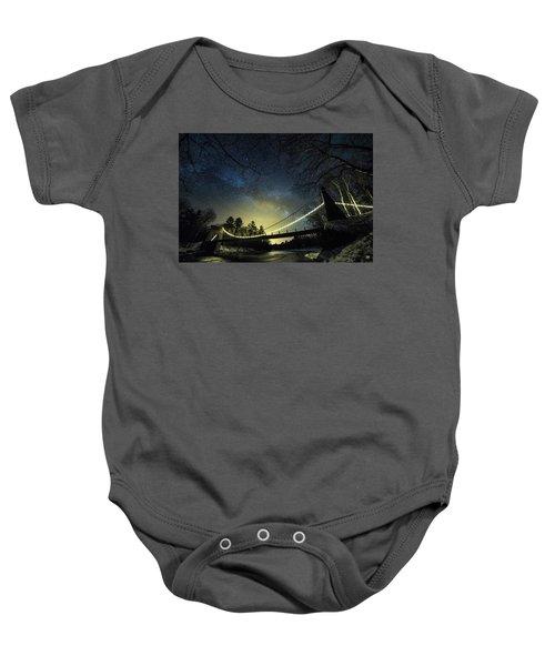 Milky Way Over The Wire Bridge Baby Onesie