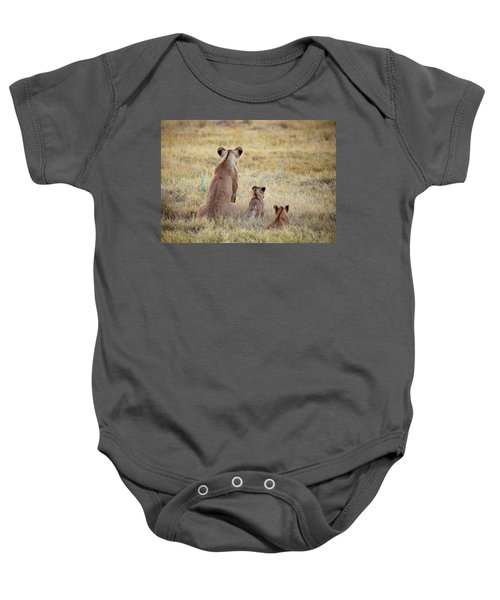 Mom And Cubs Baby Onesie