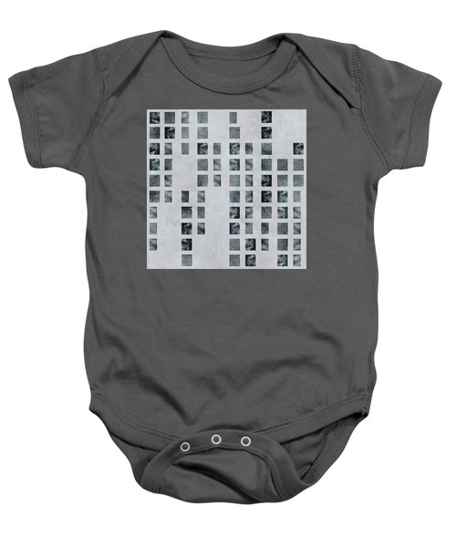 Moody Blues Data Pattern Baby Onesie