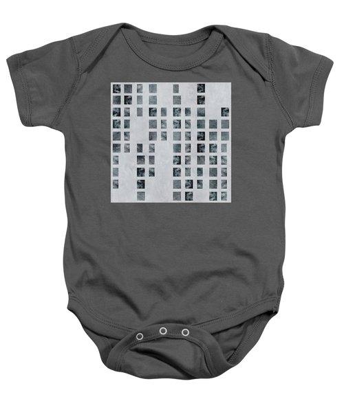 Moody Blues Data Pattern Baby Onesie