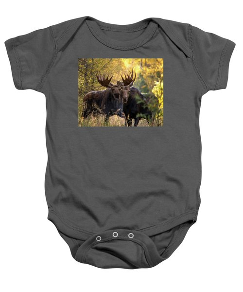 Baby Onesie featuring the photograph Moose Love by Mary Hone