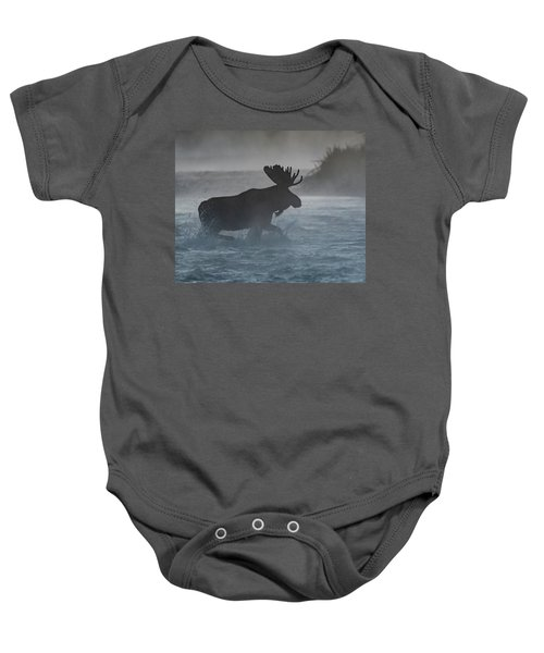 Baby Onesie featuring the photograph Morning Crossing by Mary Hone