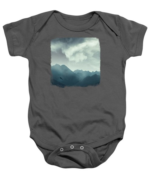Mountain Shapes Baby Onesie