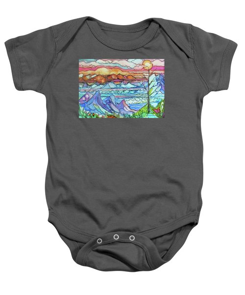 Mountains And Sea Baby Onesie