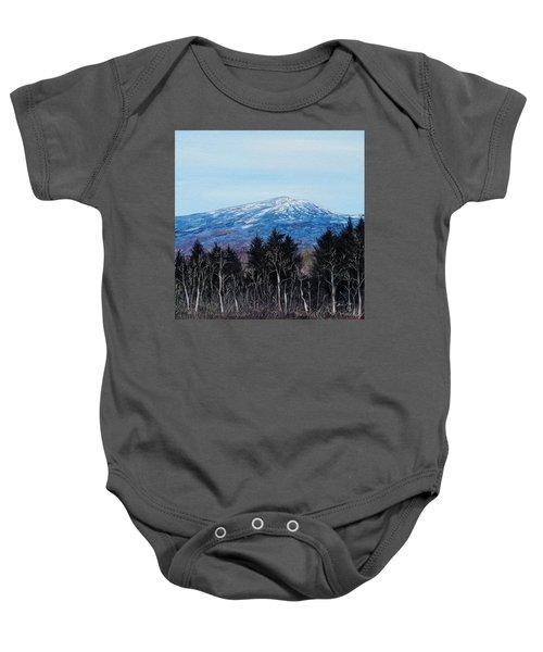 Mt. Monadnock Spring Snow Baby Onesie