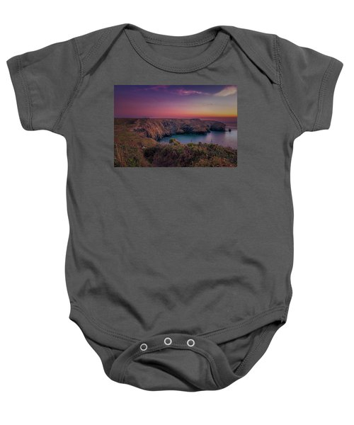 Mullion Cove Cornwall Sunset Baby Onesie