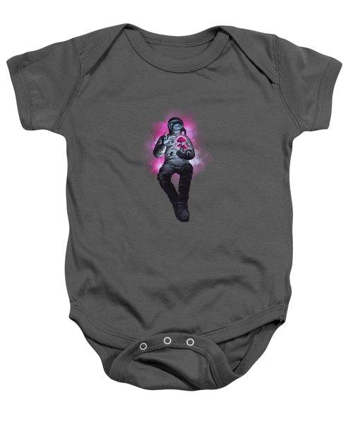 Mushroom Cosmonaut Space Traveller Baby Onesie