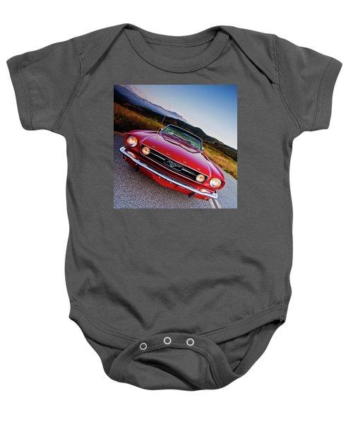 Mustang Convertible Baby Onesie