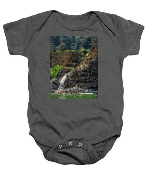 Na Pali Coast Waterfall Baby Onesie