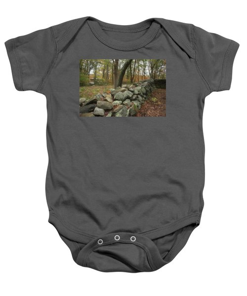 New England Stone Wall 1 Baby Onesie