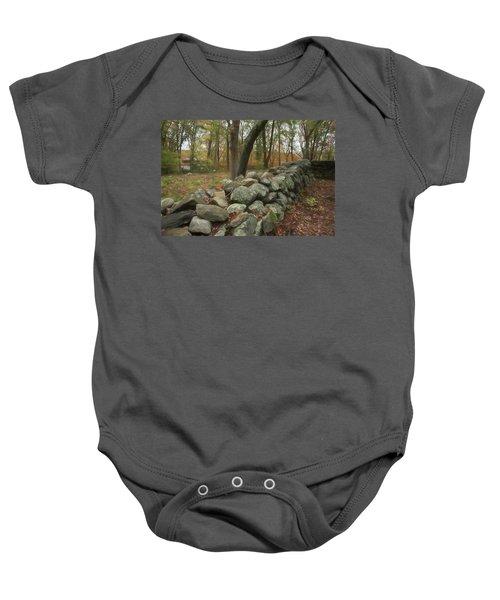 New England Stone Wall 1 Baby Onesie