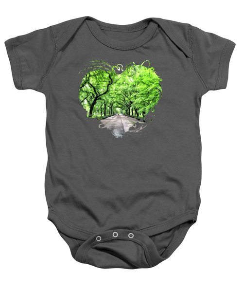New York City Central Park Mall Baby Onesie