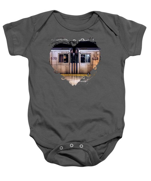 New York City Subway Cars Baby Onesie