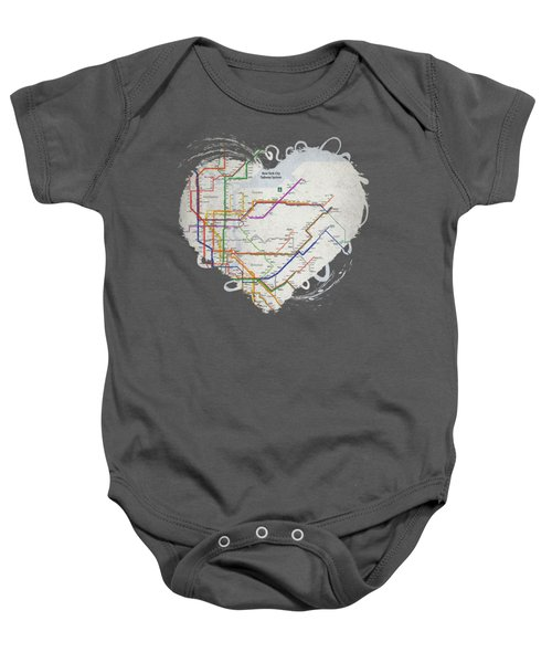 New York City Subway Map Baby Onesie