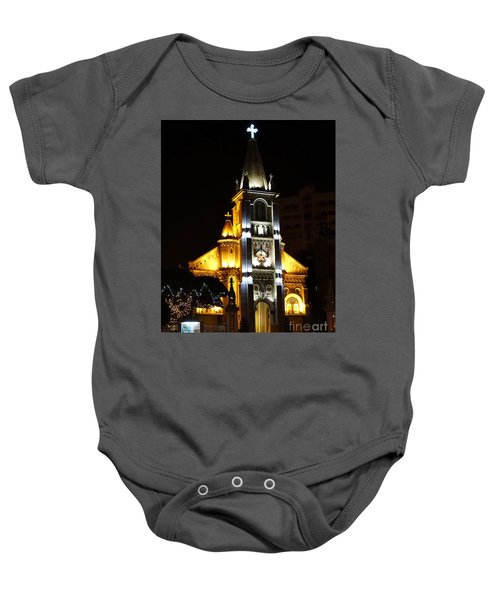Night View Of The Holy Rosary Cathedral Baby Onesie