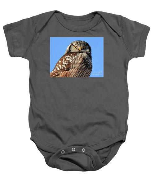 Northern Hawk-owl Baby Onesie