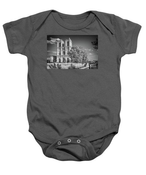 Notre Dame De Paris, Black And White Baby Onesie