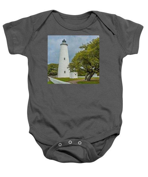 Ocracoke Lighthouse No 2 Baby Onesie
