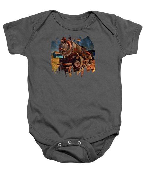 Old 44 Locomotive Baby Onesie