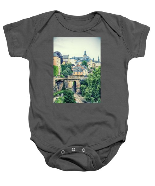 old city Luxembourg from above Baby Onesie