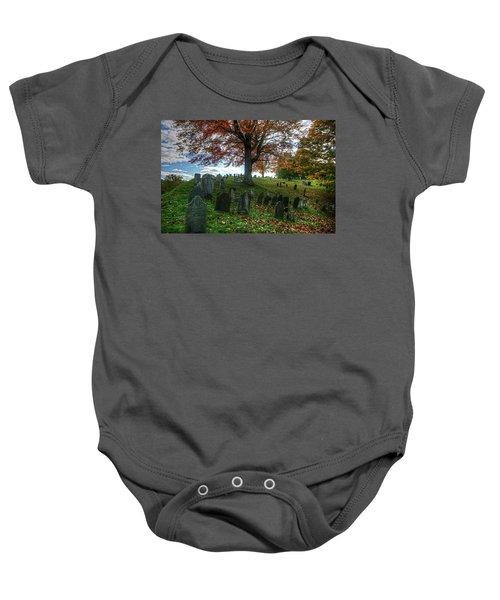 Old Hill Burying Ground In Autumn Baby Onesie