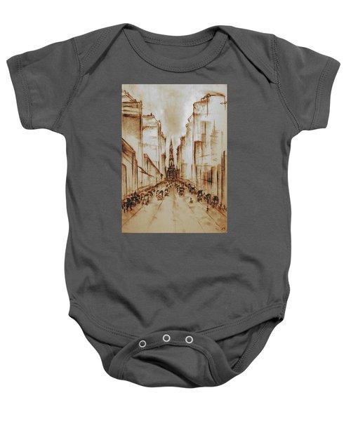 Old Philadelphia City Hall 1920 - Pencil Drawing Baby Onesie